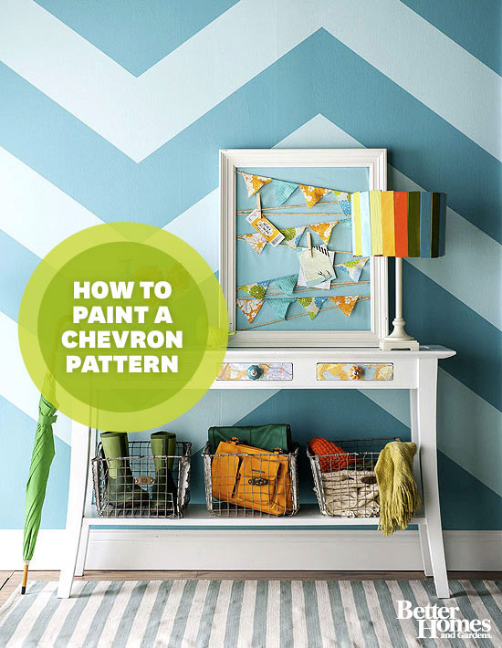 How to Paint a Chevron Pattern