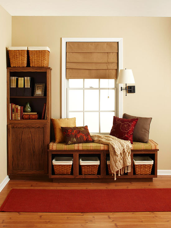 Window seat, storage, bookshelf