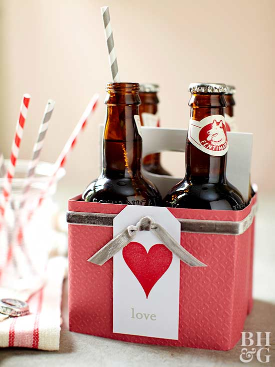 valentines day bottle caddy