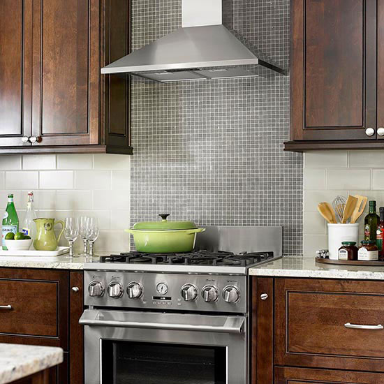 Contrasting Tile Backsplash
