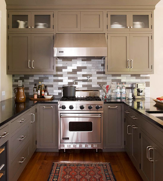 Kitchen With Decorative Tile