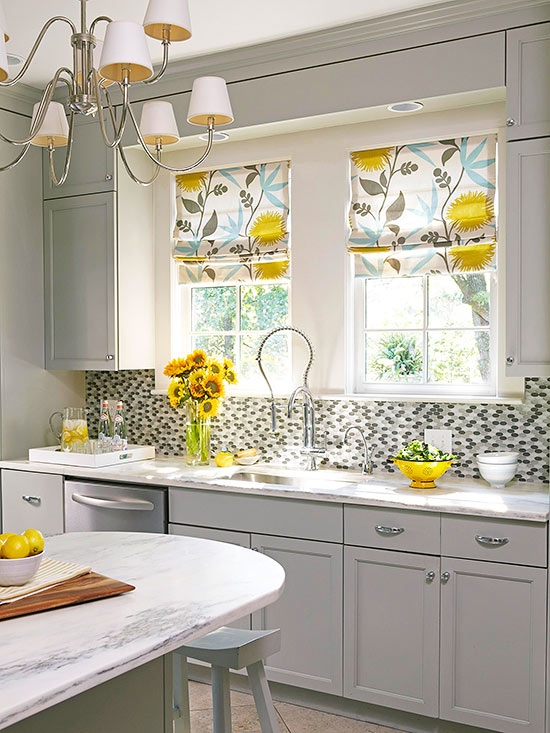 Kitchen Window Treatments | Better Homes & Gardens on ideas for kitchens paint, ideas for kitchens design, ideas for kitchens art, ideas for kitchens plumbing,