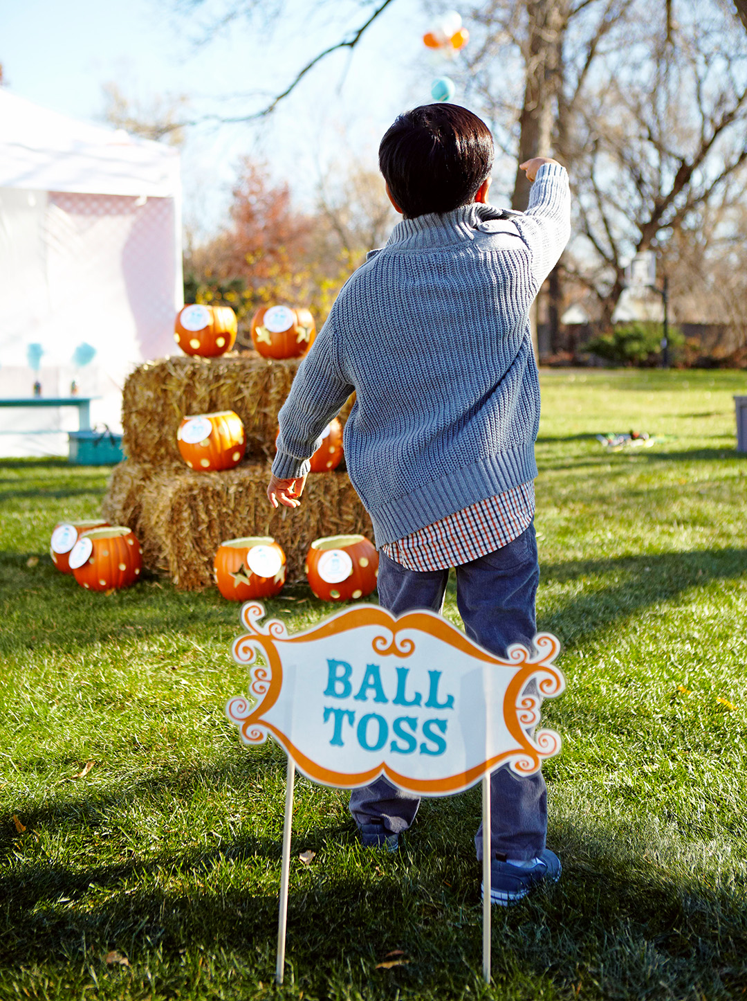 Ball Toss for a Halloween Kid's Party