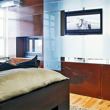 Room Divider with TV