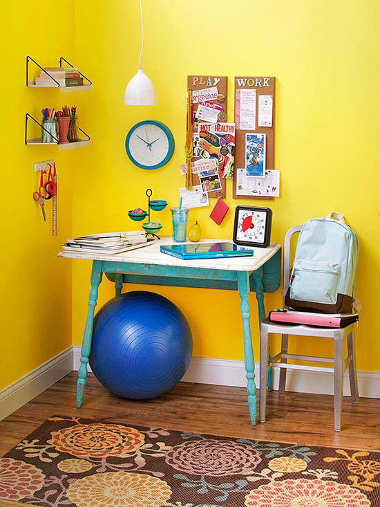 Cute-and-Colorful Kid Desk