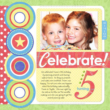 Boy Birthday Scrapbook Pages