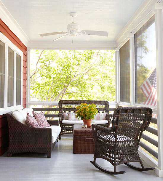 Porch, screen porch