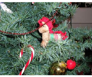Cork Horse Ornament