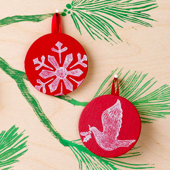 Mini Chalkboard Disc Ornaments