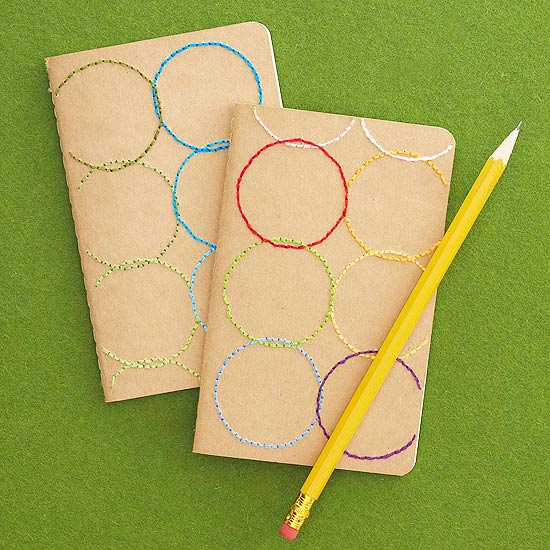 Colorful Stitched Notebook
