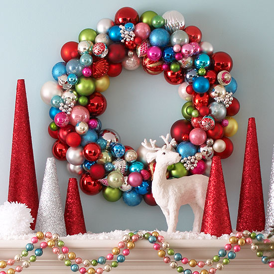 Colorful Christmas Wreath