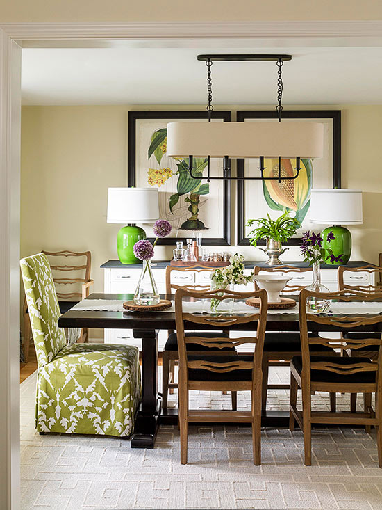 Horizontal Pendant Dining Room