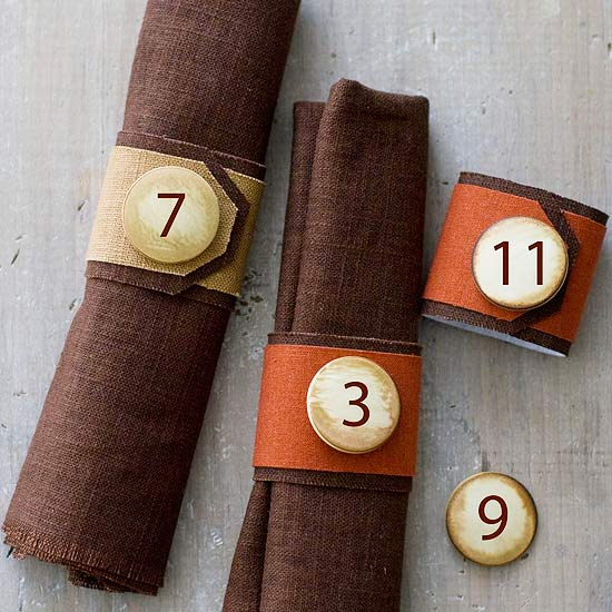 Numbered Napkin Rings