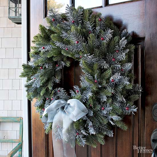 Tie Together Your Frosted Wreath