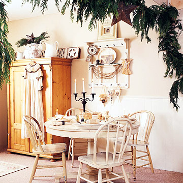Vintage White Dining Table