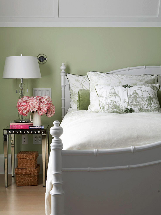 Muted Tones Cottage Bedroom