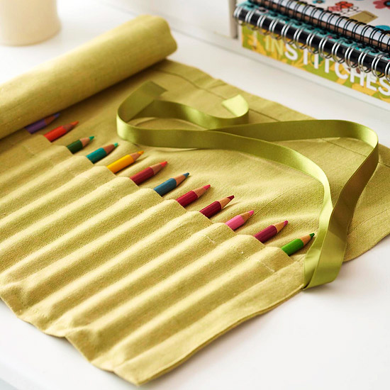 napkin to pencil holder