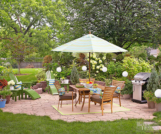 Cheap Patio Ideas | Better Homes & Gardens on Stone Patio Ideas On A Budget id=42607