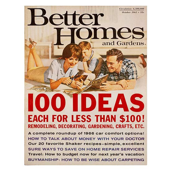 Better Homes and Gardens October 1965 cover