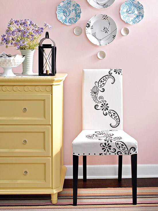 Stenciled Slipcover
