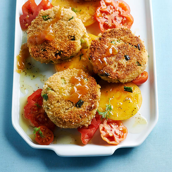 Crabcakes with Apricot Sauce