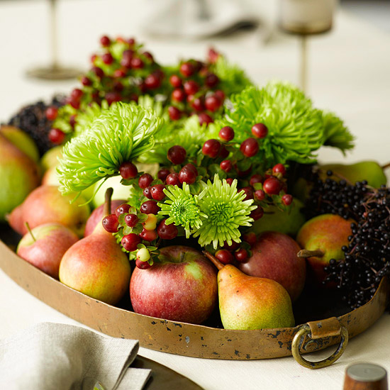 Tray with Fall Fruits