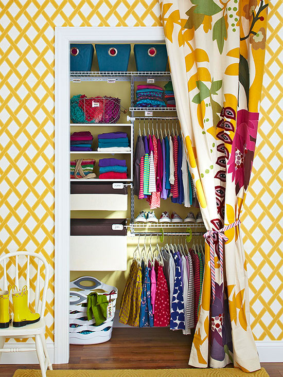 Clever and Cute Storage for Kids Clothes