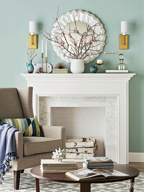 Fireplace Mantel Decorating Better Homes Amp Gardens