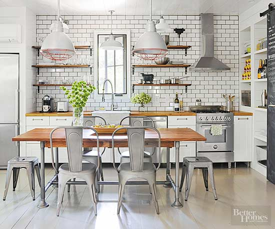 Farmhouse Style Has Never Been One For Matchy Detailing But Modern Designs Play Up Mixed Metallic Textures More Than Ever To Give Es