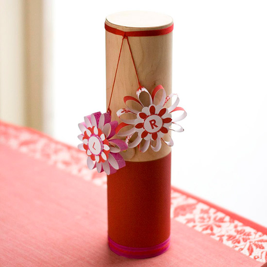 Gift Container with Hanging Paper Flowers