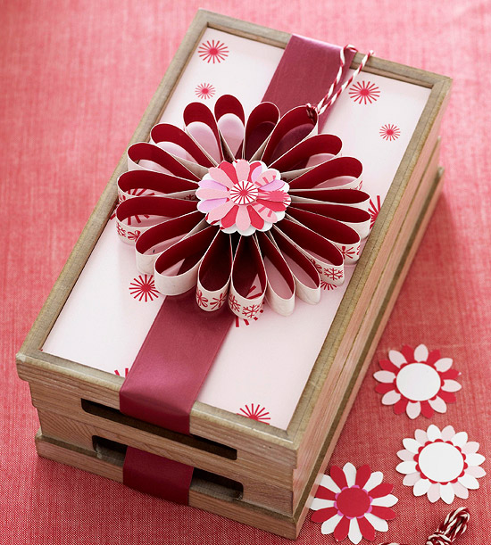Stackable Gift Box with Big Flower Bow