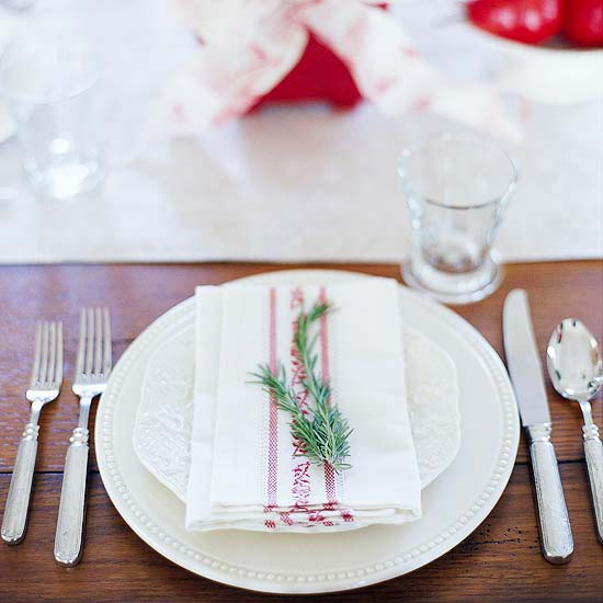 Rosemary-Scented Napkins