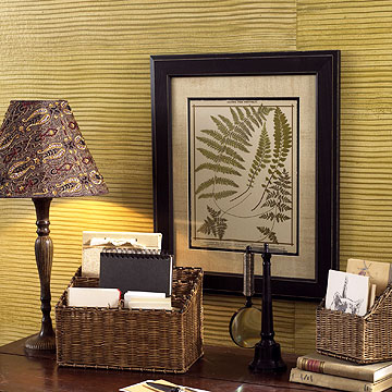 Grass Cloth Wall Project