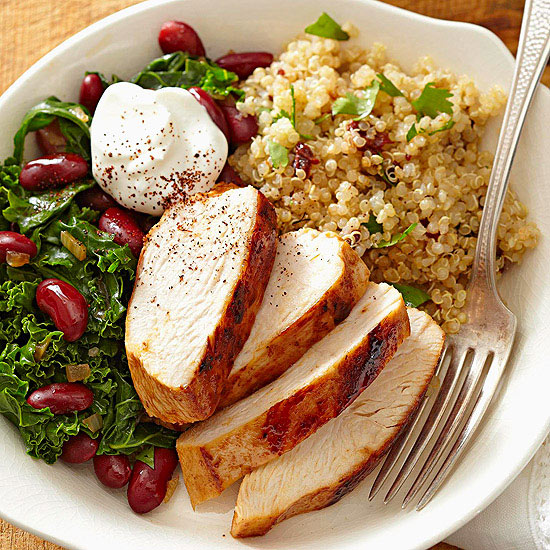 Chipotle Quinoa with Kale, Beans, and Chicken