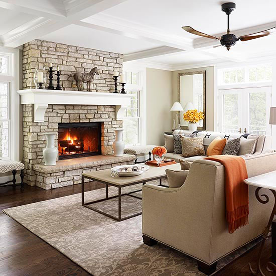 Get Cozy with Brickwork and Stonework Fireplaces