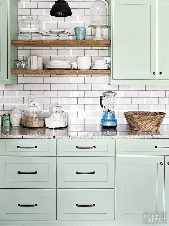 Cool Mint Kitchen Cabinet Colors