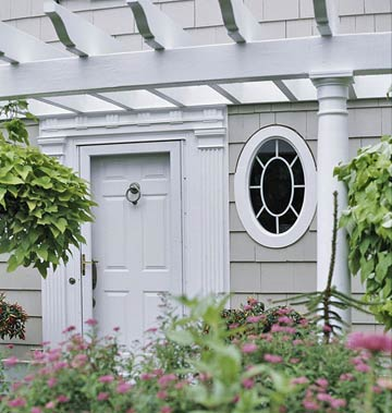Oval Windows for Cottage Charm