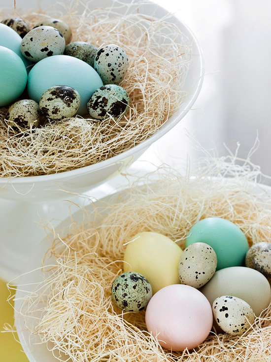 Easter Grass-and-Eggs Centerpiece