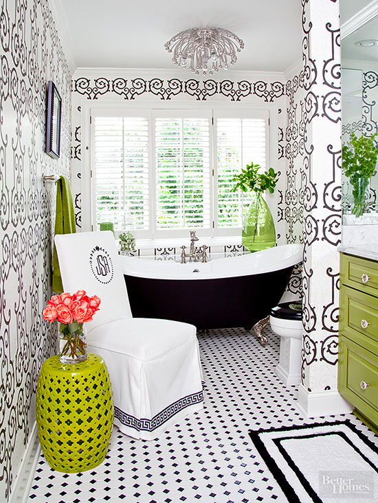 Bathroom Wallpaper Ideas Better Homes Gardens