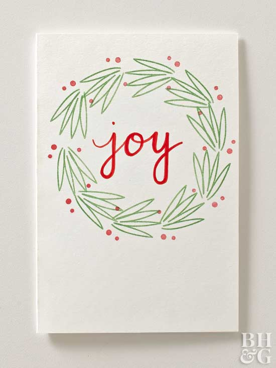 Stamped Christmas Card