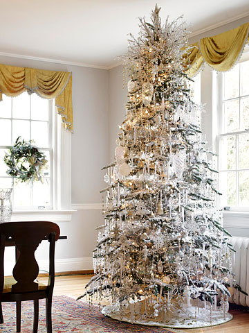 Icicle-Covered Christmas Tree