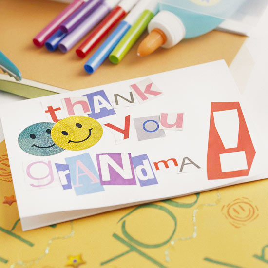 Cutout Letters Card