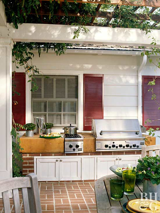 Outdoor Kitchen Ideas Better Homes Amp Gardens