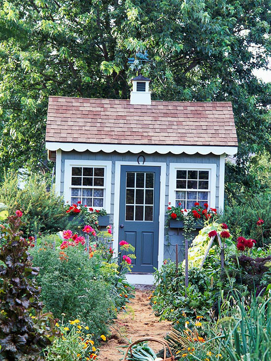 Cottage style tool shed