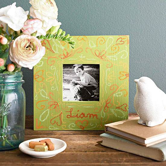 Chalk-Art Picture Frame
