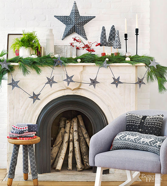 Sweater Garland, Star, and Stool Sleeves