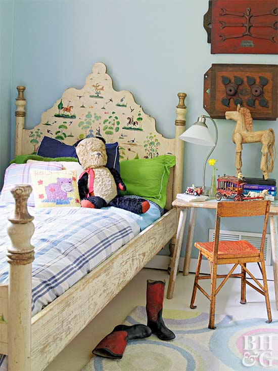 24 Creative Headboards for Kids\' Rooms