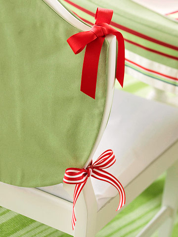 Festive Red & Green Chair Covers