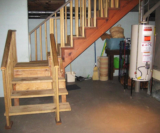 Before and After: Drab-to-Dapper Basement Makeover
