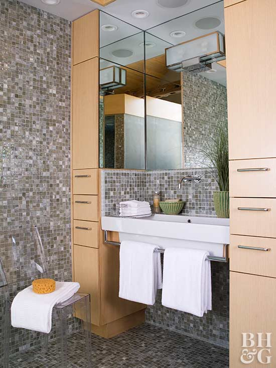 Towel Display Ideas For Bathrooms Better Homes Amp Gardens